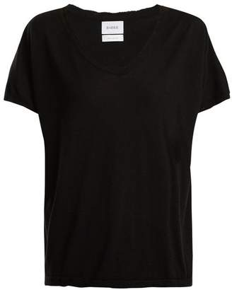 Barrie - Sweet Eighteen Distressed Cashmere T Shirt - Womens - Black