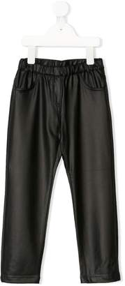 Roberto Cavalli Junior faux leather relaxed trousers