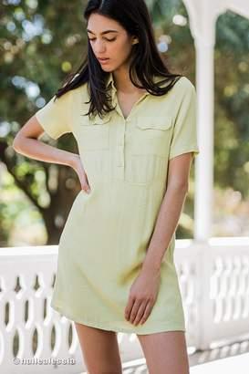 Urban Outfitters Lou Collared Mini Shirt Dress