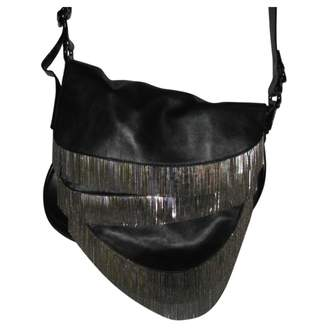 Giuseppe Zanotti Black Leather Handbag