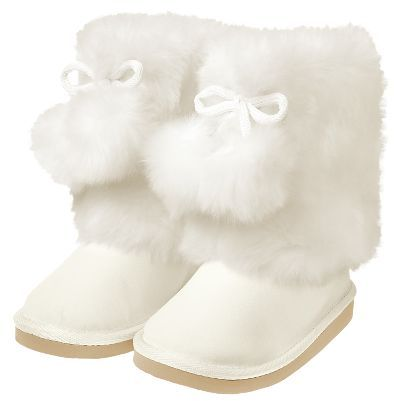 Gymboree Faux Fur Pom Pom Boot