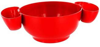 Prodyne Red Chips and Dips 3-Piece Bowl Set