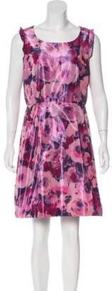Pink Tartan Printed Mini Dress