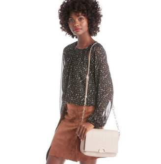 Sole Society Colie Vegan Quilted Crossbody w/ Chain Strap