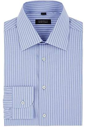 Barneys New York MEN'S STRIPED COTTON POPLIN DRESS SHIRT SIZE 18 L