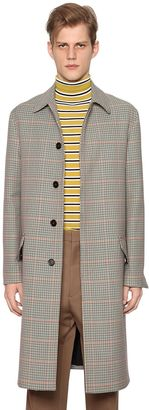 Marni Plaid Mixed Wool Coat