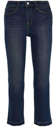 Cropped Faded Mid-Rise Bootcut Jeans