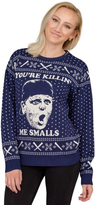 """Ugly Sweater Company Ugly Christmas Sweater """"You're Killing Me Smalls"""" Navy Sweater"""