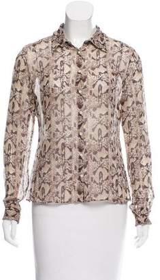 Elie Tahari Silk Snakeskin Print Top $70 thestylecure.com