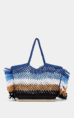 Altuzarra Women's Espadrille Large Raffia Tote Bag - Blue