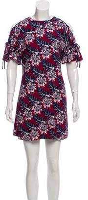 Thakoon Patterned Cold-Shoulder Dress