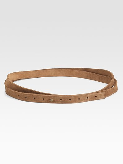 Eileen Fisher Double-Wrap Belt/Suede Leather