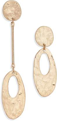 Canvas Jewelry Mismatched Hammered Drop Earrings