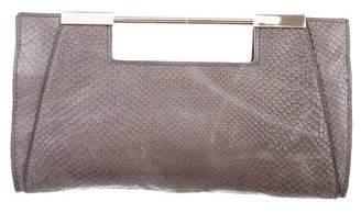 Halston Embossed Leather Bag