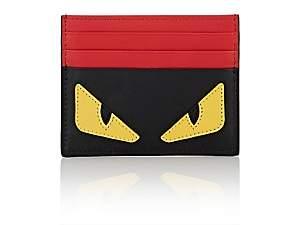 Fendi Men's Bag Bugs Leather Card Case-Black