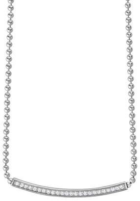 Lagos Caviar Spark Diamond Ball-Chain Necklace