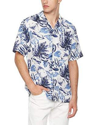 Isle Bay Linens Men's Relaxed-Fit 100% Linen Tropical Hawaiian Casual Shirt