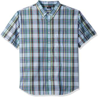 Arrow Men's Big and Tall Short Sleeve Madras Shirt