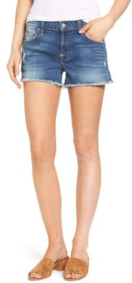 7 For All Mankind High Waist Cutoff Denim Shorts