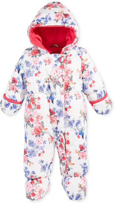 S. Rothschild Baby Girls' Floral-Print Footed Pram Snowsuit $70 thestylecure.com