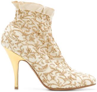 Salvatore Ferragamo brocade ankle boots