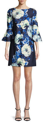 Vince Camuto Floral Bell-Sleeve Shift Dress