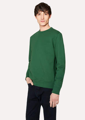 Paul Smith Men's Dark Green Organic-Cotton Sweatshirt