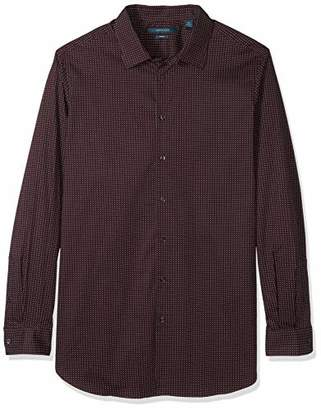 Perry Ellis Men's Big and Tall Printed Mini Dot Stretch Shirt