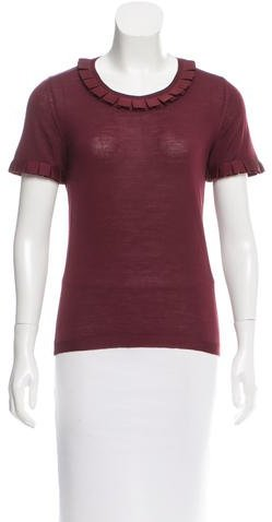 Christian Dior Ruffle-Accented Wool Top