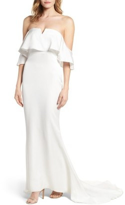 Women's Lovers + Friends The Santa Barbara Off The Shoulder Gown $360 thestylecure.com
