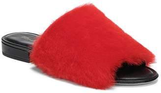 Diane von Furstenberg Women's Santi Leather & Shearling Slides