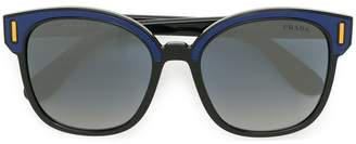 Prada colourblock square sunglasses