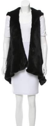 Oscar de la Renta Hooded Mink Fur Vest w/ Tags