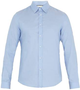 Gucci Duke point-collar cotton shirt