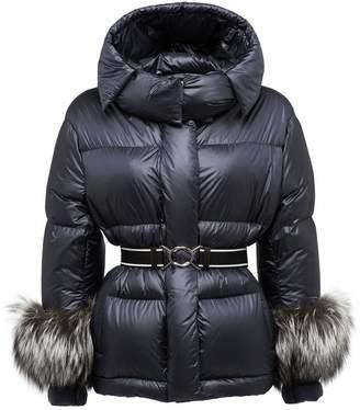 Prada Fur-Trimmed Down Jacket