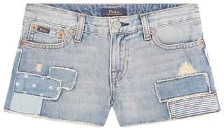 Polo Ralph Lauren Embroidered Flag Denim Shorts