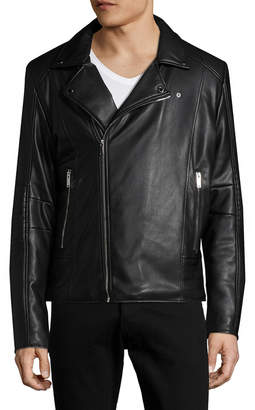 Karl Lagerfeld Asymmetrical Motorcycle Jacket