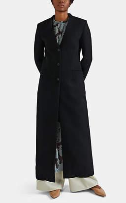 Jil Sander Women's Wool Collarless Coat - Black