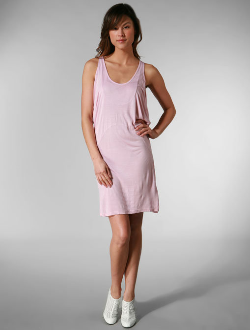 Morphine Generation Super Soft & Drapey Dress in Blush