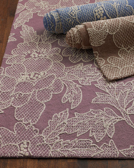 Lace-Print Rugs