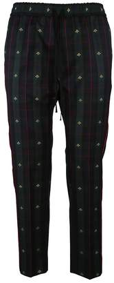 Gucci Check Bees Trousers
