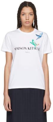 MAISON KITSUNÉ White Lovebirds T-Shirt