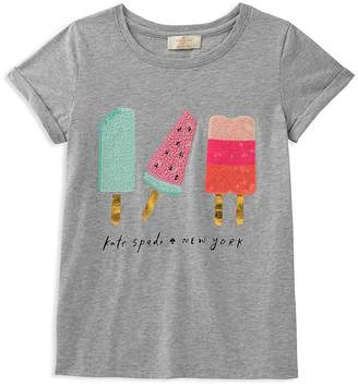 Kate Spade Girls' Summer Treats Sequin Graphic Tee - Big Kid