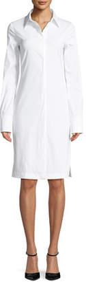 Helmut Lang Button-Down Long-Sleeve Cotton Shirtdress