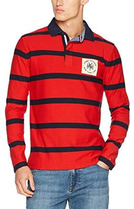 fe59fc4a2 Tommy Hilfiger Men's Tobert Stp Rugby L/S VF Polo Shirt, Medium
