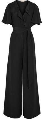 Michael Kors Ruffled Silk-Crepe Jumpsuit