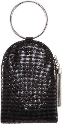 Nina Metallic Mesh Handbag