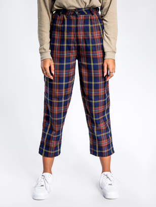 Stussy Marion Check Pants in Rust