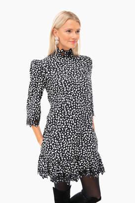 Rebecca Taylor La Vie by Long Sleeve Jaguar Embellished Dress