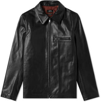 A.P.C. No Fun Leather Jacket